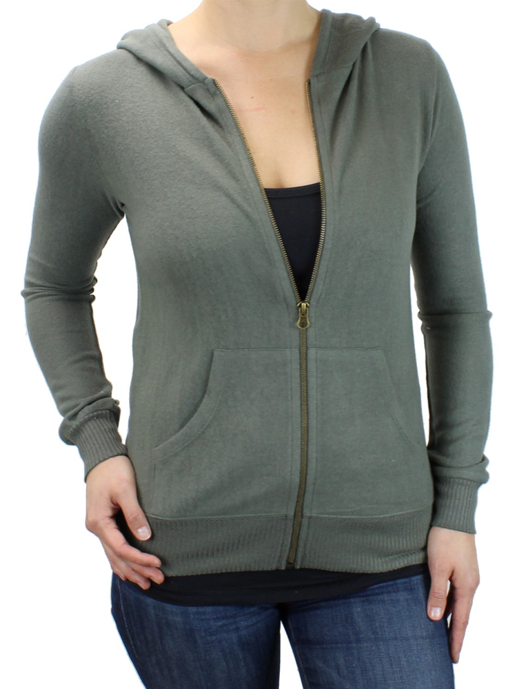 Ultra Soft Women's Zip-Up Fitted Hoodie