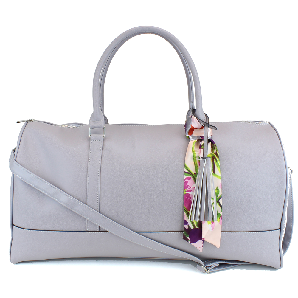 Weekender Duffel Bag with Satin Tie