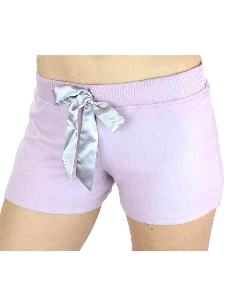 Ultra Soft Women's Lounge Shorts with Satin Tie