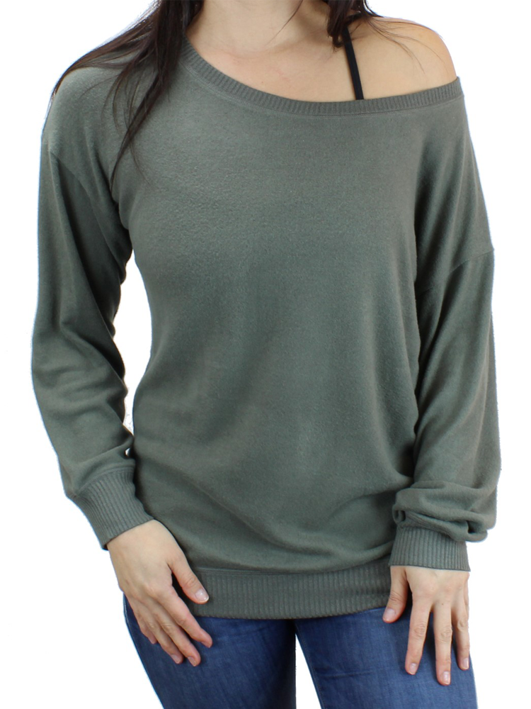 Ultra Soft Off-shoulder Sweatshirt/Sweater