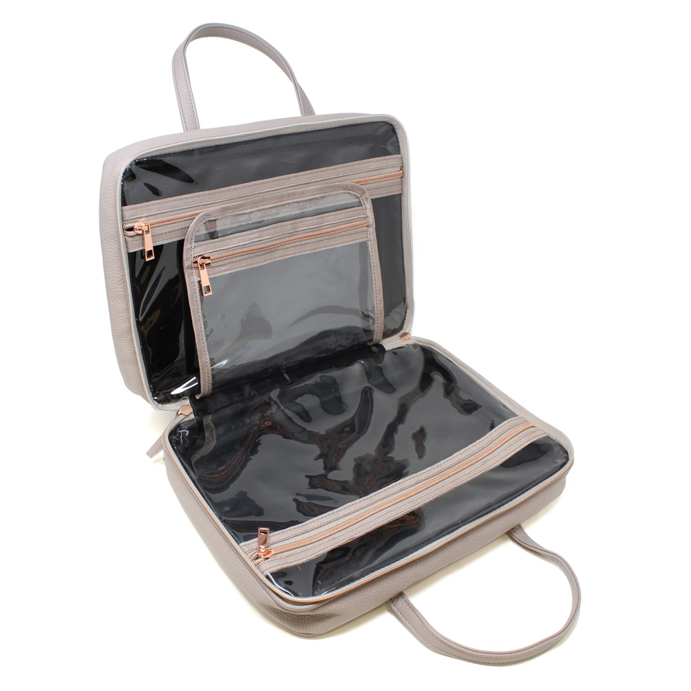 Toiletry Travel Bag with Rose Gold Hardware