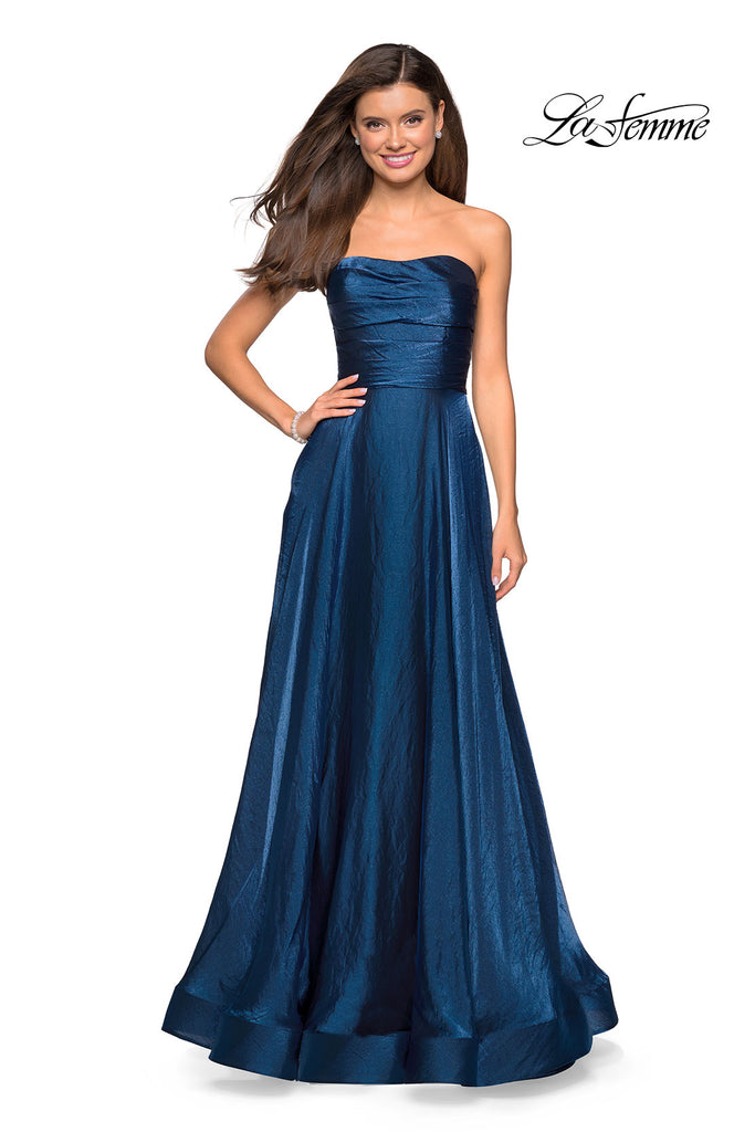 La Femme 27130 Prom 2019 Flowy Gown, MULTIPLE COLORS  IN STOCK