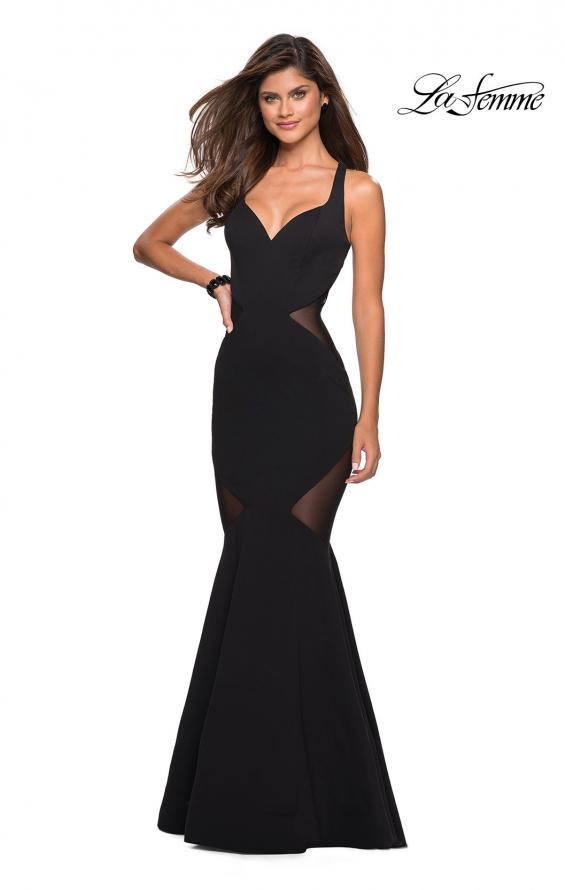 LaFemme 27454 Prom 2019 Fitted Gown, IN STOCK BLACK SIZE 8