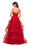 La Femme 27624 Prom 2019 Tulle Gown, IN STOCK RED SIZE 8