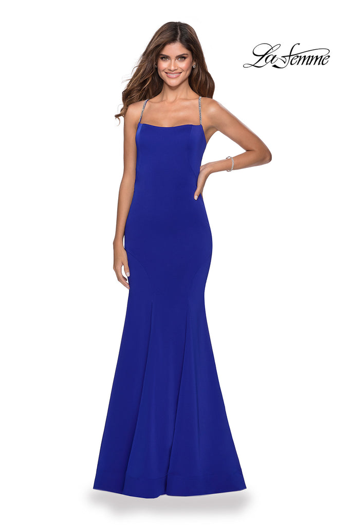 IN STOCK ELECTRIC BLUE SIZE 2 La Femme Style 28526