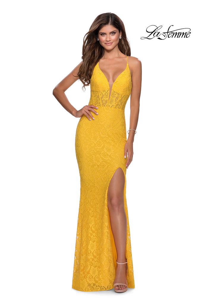 IN STOCK AQUA SIZE 8, YELLOW SIZE 6 La Femme Style 28591