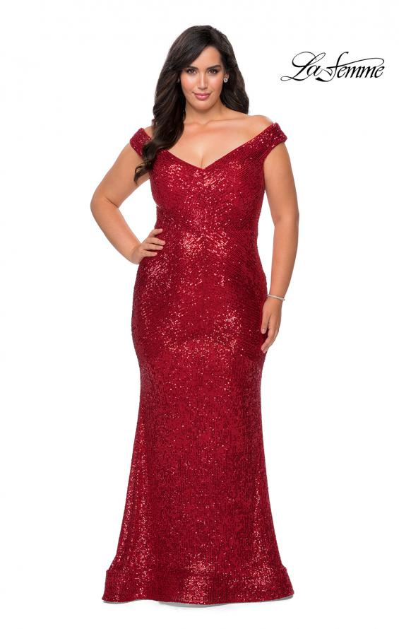 IN STOCK RED SIZE 14W, ROYAL BLUE SIZE 12W La Femme Style 28949