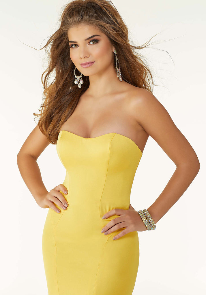 IN STOCK YELLOW SIZE 4 Morilee Prom Style 45034