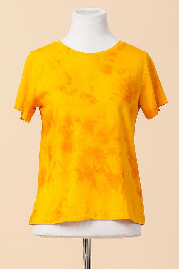 Large - Golden Tie Dye Tee - Marigold