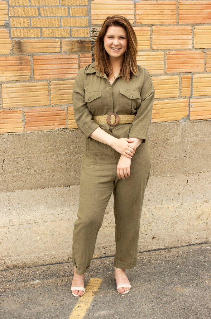 Large - Need for Speed Drop Sleeve Utility Jumpsuit - Olive