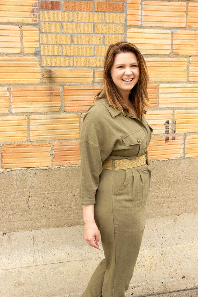 Need for Speed Drop Sleeve Utility Jumpsuit - Olive