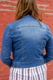Jensi Denim Jacket - Denim Jacket with no distressing