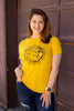 Graphic Tee - Zodiac Top - Mustard