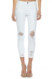 Jamie Distressed white Jeans