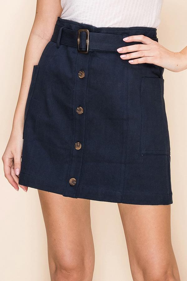 Ready Set Go Skirt - Navy