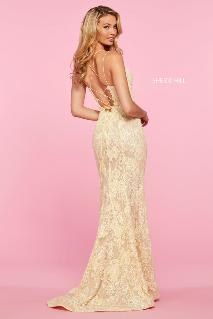 IN STOCK CORAL SIZE 4 Sherri Hill Style 53460