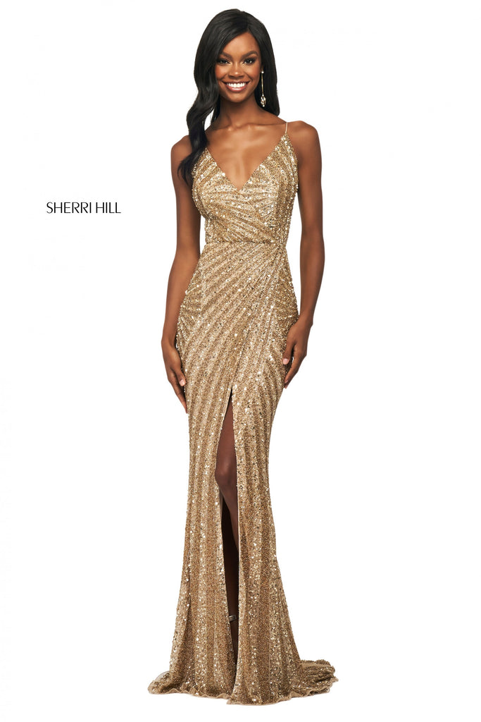 IN STOCK NAVY/GUNMETAL SIZE 6 Sherri Hill Style 53798