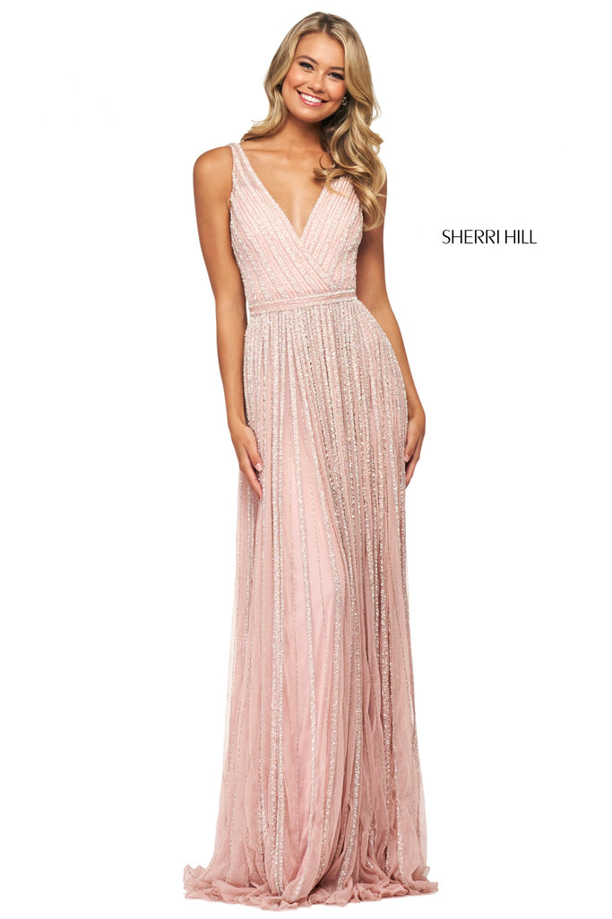 IN STOCK BLUSH SIZE 6 Sherri Hill Style 53867