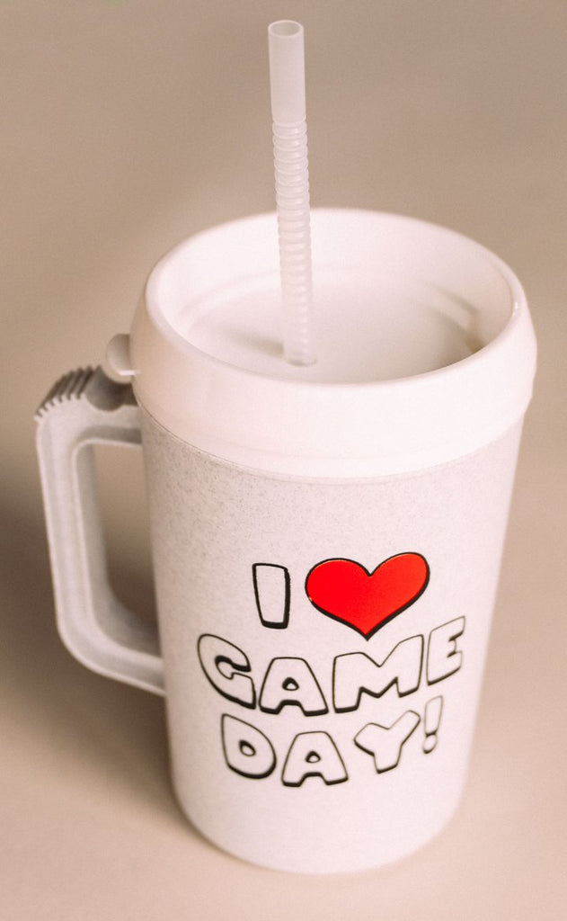 BIG GULP MUG - I heart Gameday - 34 oz insulated mug