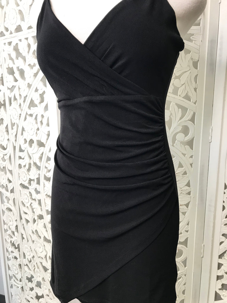 At a Slant Dress - Black