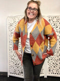 Out in the Wild - multi color cardigan