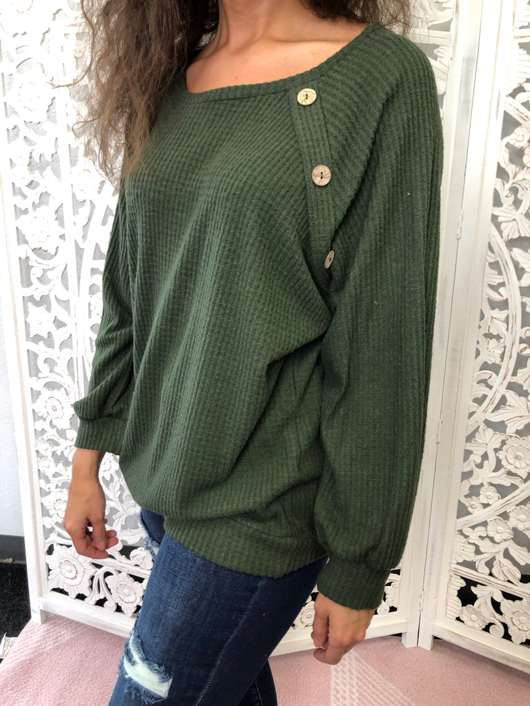 Small - St Moritz Top - Olive