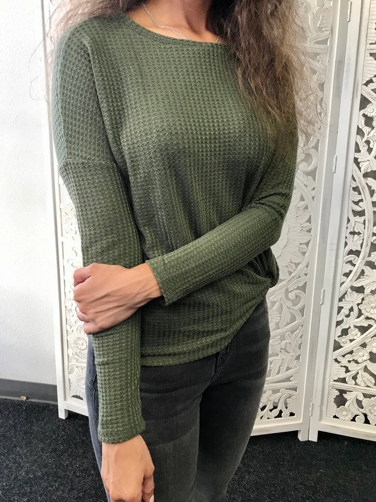Knotted Thermal - Olive