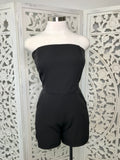 Large - Who's Who Romper - Black