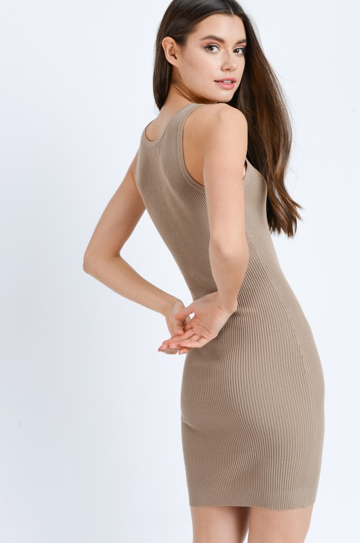 Night Owl Dress - Khaki