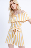 Large - See the Good Romper - Yellow