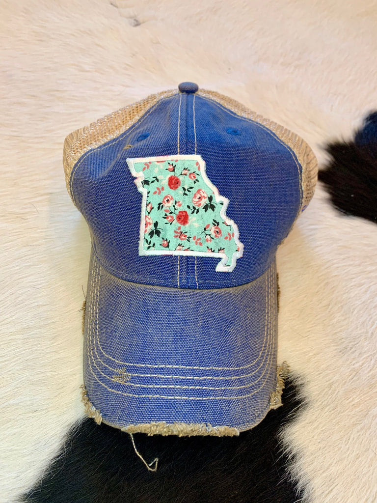 Missouri patch hat - teal
