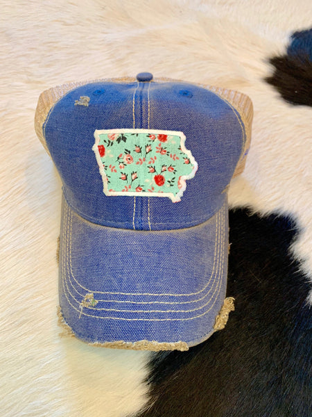 Iowa patch hat - teal