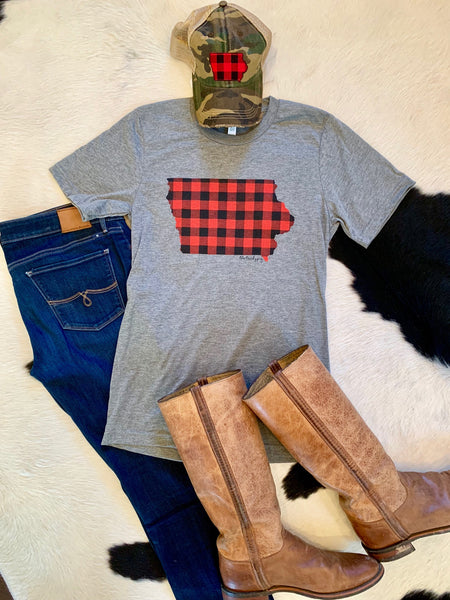 Iowa Buffalo Check tee
