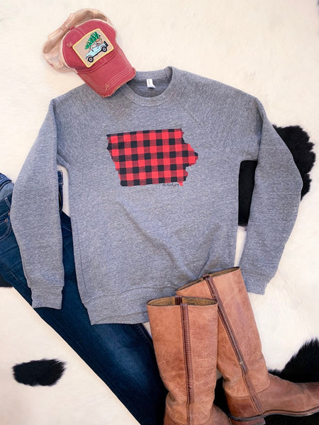 Buffalo Check sweatshirt - Iowa