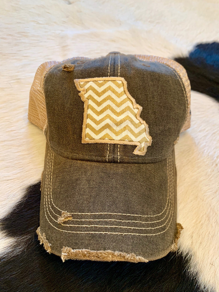 MO patch hat - gold chevron