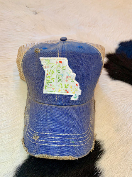 Missouri patch hat - ivory