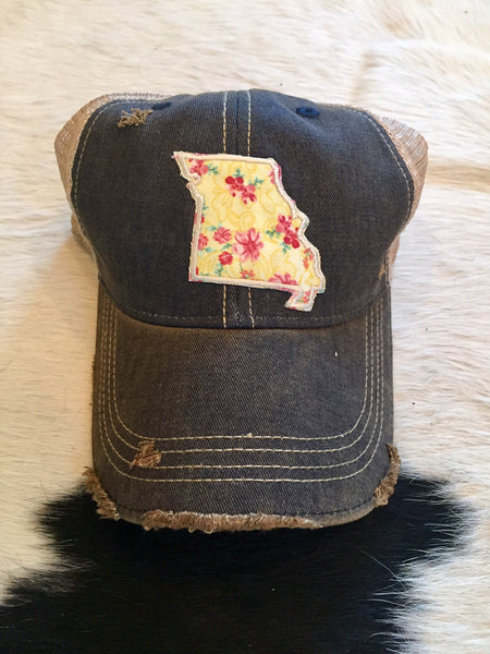 Missouri patch hat - buttercup