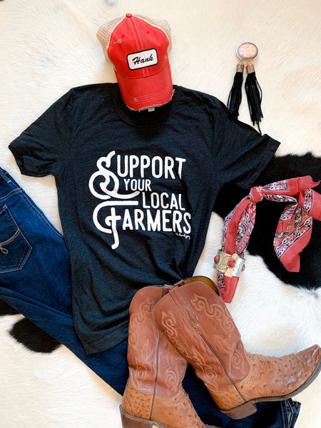 Support Your Local Farmers - tee