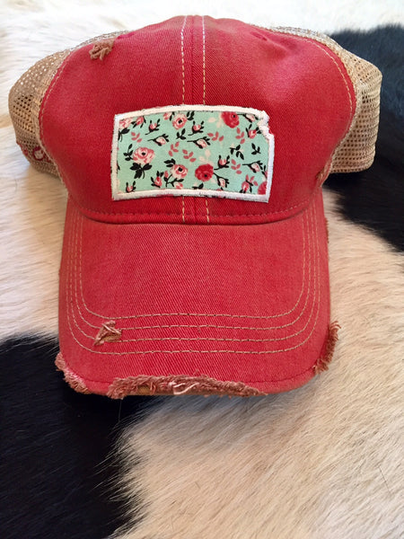 KS patch hat - red