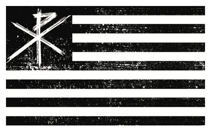 Chi-Rho/ American Flag Bumper Sticker
