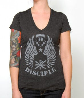Womens V-Neck Shield T