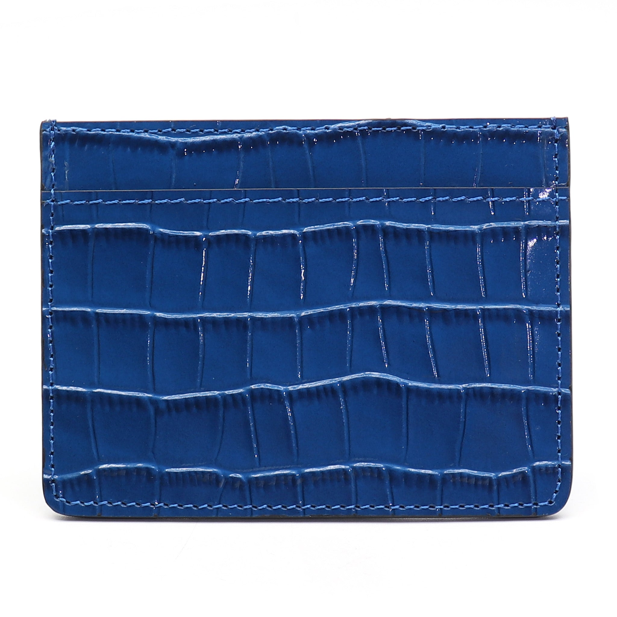 Card Holder - Blue Croco - Equinoxx Design