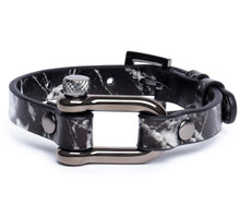 Load image into Gallery viewer, Black Marble & Gun Metal Shackle Bracelet - Equinoxx Design