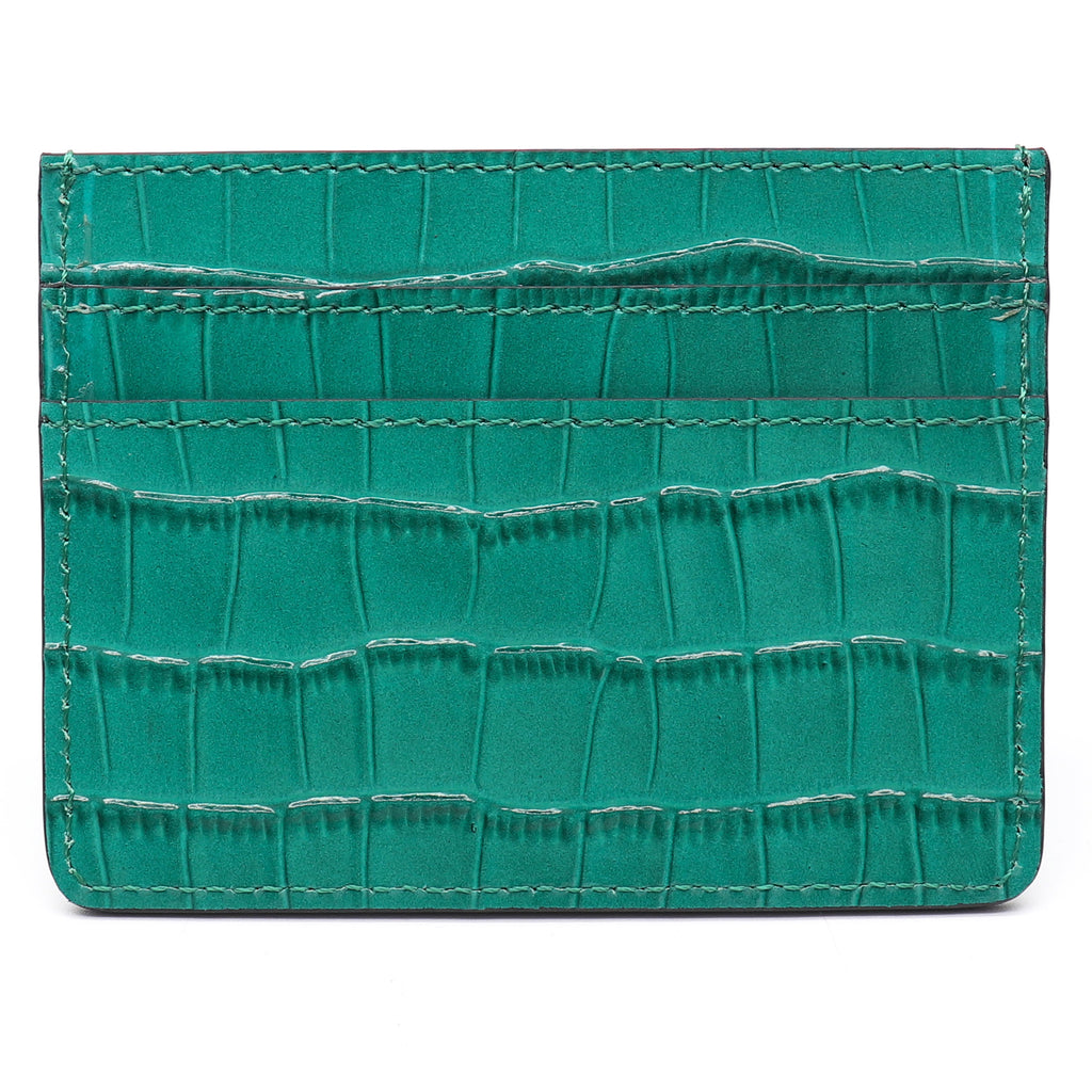 Card Holder - Green Croco - Equinoxx Design
