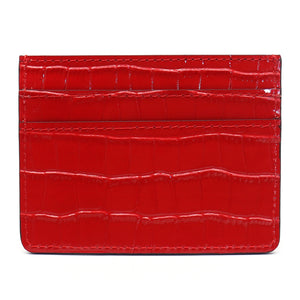 Card Holder - Red Croco - Equinoxx Design
