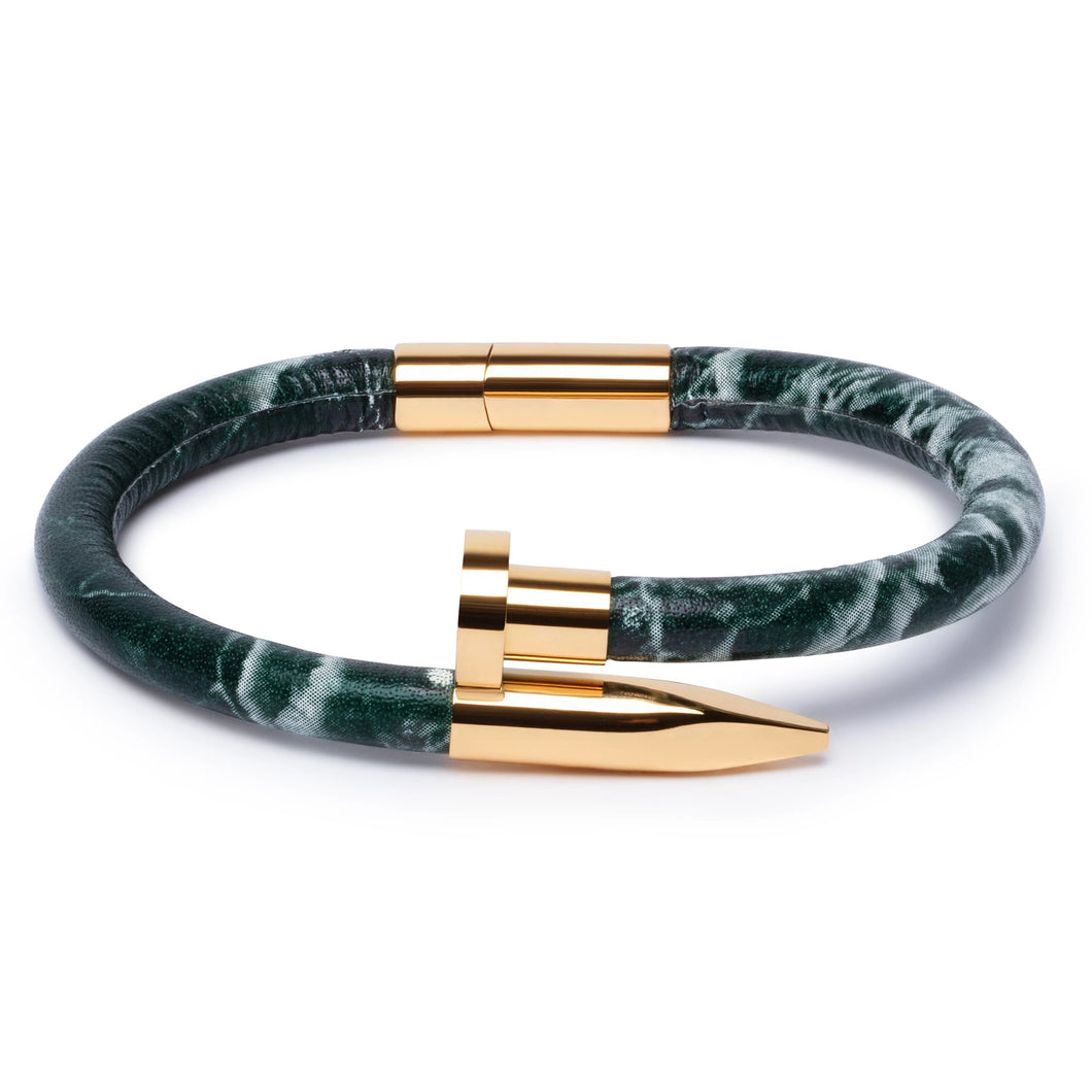 Green Marble Leather & Gold Nail - Equinoxx Design