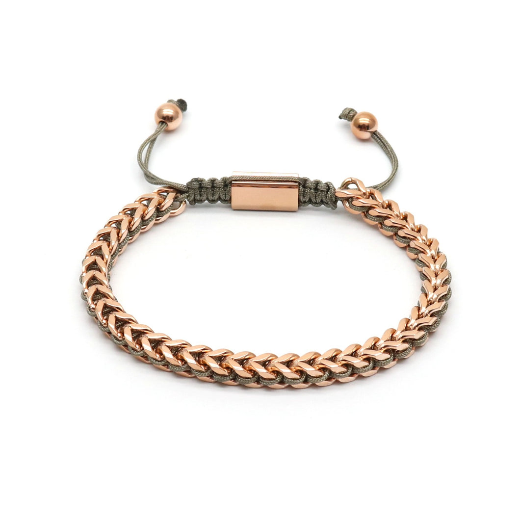 Grey Rope & Full Rose Gold Chain - Equinoxx Design