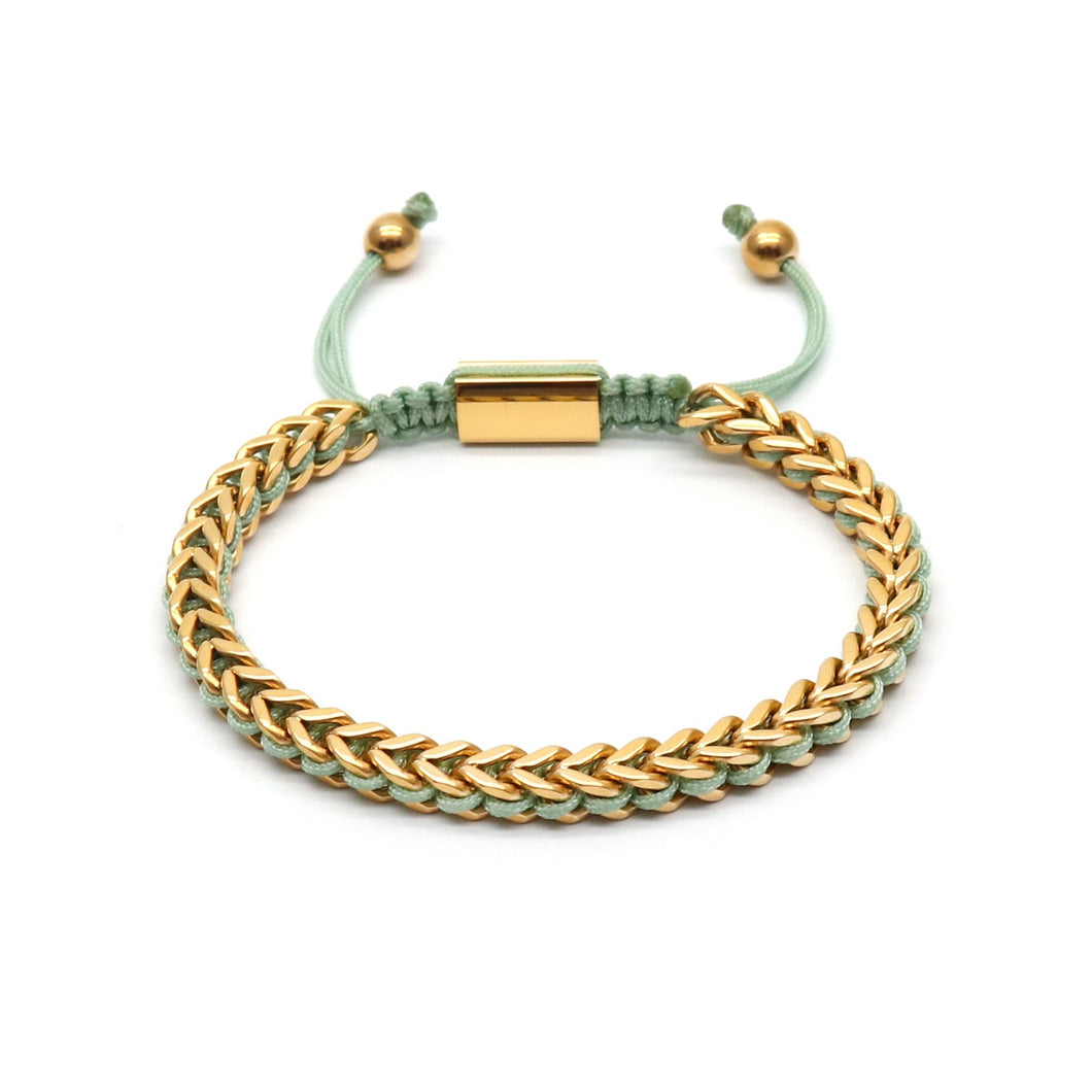 Light Green Rope & Full Gold Chain - Equinoxx Design