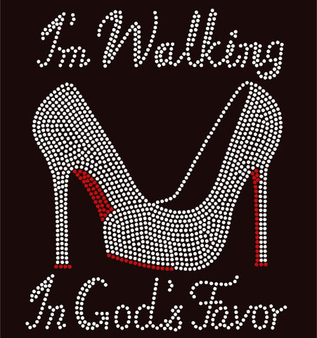 I'm Walking In God's Favor Rhinestone T-Shirt - BlingThatSingsBoutique