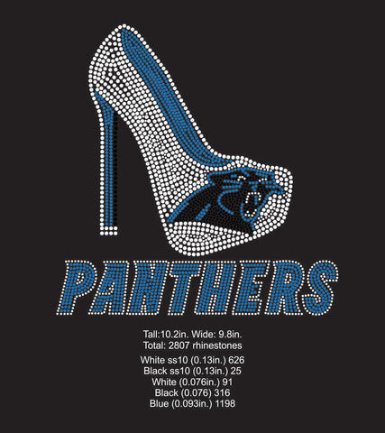 Carolina Panthers Rhinestone Digital Download